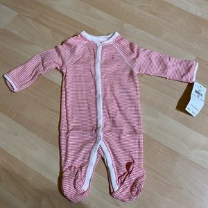 New Polo Ralph Lauren Girls Footed Coverall NB